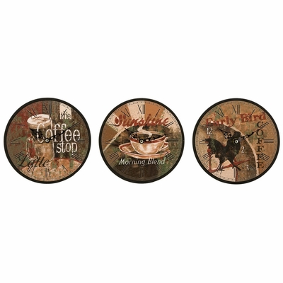 Early Bird Clocks (Set of 3) - IMAX - 37018-3