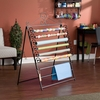 Easel/Wall Mount Craft Storage Rack Black - Holly and Martin