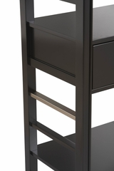 East End Avenue 4-Shelf Bookcase - Linon Furniture - 77501BLK-KD-U