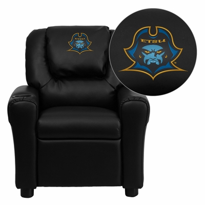 East Tennessee State University Buccaneers Embroidered Kids Recliner - DG-ULT-KID-BK-41027-EMB-GG