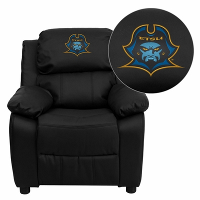 East Tennessee State University Buccaneers Leather Kids Recliner - BT-7985-KID-BK-LEA-41027-EMB-GG