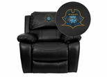 East Tennessee State University Buccaneers Leather Rocker Recliner - MEN-DA3439-91-BK-41027-EMB-GG