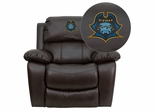 East Tennessee State University Buccaneers Leather Rocker Recliner  - MEN-DA3439-91-BRN-41027-EMB-GG