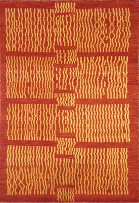 Eastern Weavers Adeline Hand Tufted Modern Rug in Rust Gold