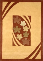 Eastern Weavers Adeline Peach Rust Hand Tufted Rug