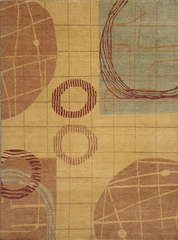 Eastern Weavers Adeline Wool Hand Tufted Beige Rust Rug