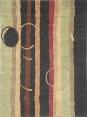 Eastern Weavers Adeline Wool Hand Tufted Charcoal Sage Rug