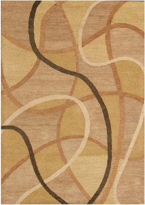 Eastern Weavers Adeline Wool Hand Tufted Gold Beige Rug