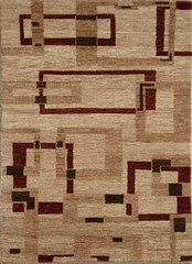 Eastern Weavers Adeline Wool Hand Tufted Rug - Beige Rust