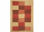 Eastern Weavers Arzu Beige Rust Hand Tufted Wool Rug