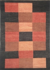 Eastern Weavers Arzu Black Rust Hand Tufted Wool Rug