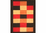 Eastern Weavers Arzu Charcoal Red Hand Tufted Wool Rug