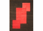 Eastern Weavers Arzu Contemporary Charcoal Red Rug