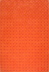 Eastern Weavers Basket Weave Orange Wool Rug