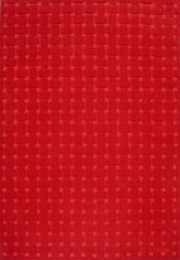 Eastern Weavers Basket Weave Red Wool Rug