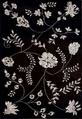 Eastern Weavers Black & White Floral Rug