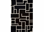 Eastern Weavers Black & White Hand Tufted Rectangular Rug