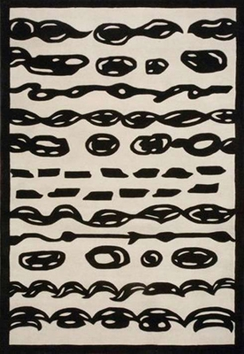 Eastern Weavers Black & White Modern Hand Tufted Rug