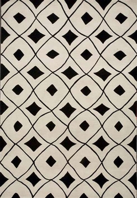 Eastern Weavers Black & White Modern Rectangular Rug