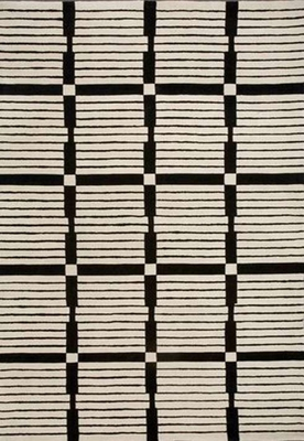 Eastern Weavers Black & White Rectangular Rug