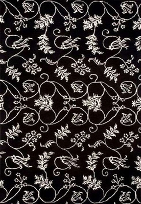 Eastern Weavers Black & White Rug - Hand Tufted