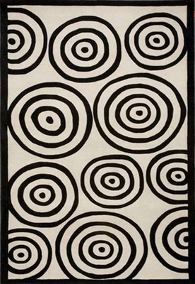 Eastern Weavers Black & White Wool Rug - Rectangular