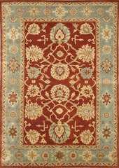 Eastern Weavers Egyptian Sphinx Rust Blue Rug