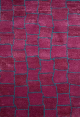 Eastern Weavers Ethan Deep Pink Wool Rug