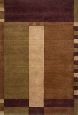Eastern Weavers Ethan Modern Wool Rug - Brown
