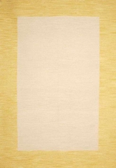 Eastern Weavers Henley Cardinal Yellow Wool Border Rug
