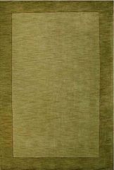 Eastern Weavers Henley Green Wool Border Rug
