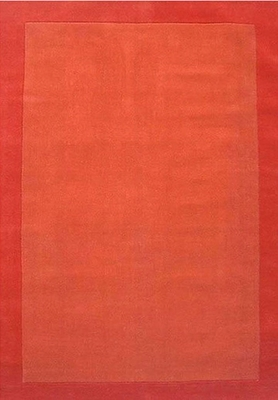 Eastern Weavers Henley Orange Wool Border Rug
