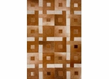 Eastern Weavers Kyle Brown Ivory Cowhide Leather Rug