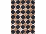 Eastern Weavers Kyle Cowhide Black Beige Rug