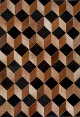 Eastern Weavers Kyle Cowhide Brown Black Rug