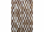 Eastern Weavers Kyle Cowhide Brown Ivory Rug - Hand Crafted