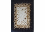 Eastern Weavers Kyle Hand Crafted Cowhide Ivory Black Rug
