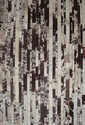 Eastern Weavers Kyle Hand Crafted Cowhide Leather Brown Ivory Rug