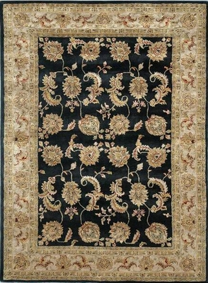 Eastern Weavers Martha Atlantis Black Ivory Wool Oriental Rug