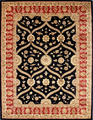 Eastern Weavers Martha Salina Black Red Wool Oriental Rug