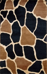 Eastern Weavers Soho Beige Black Tibetan Wool Rug