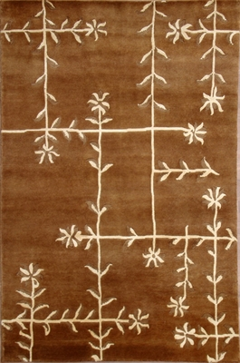 Eastern Weavers Soho Brown Ivory Tibetan Wool Rug