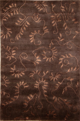 Eastern Weavers Soho Chocolate Brown Tibetan Wool Rug