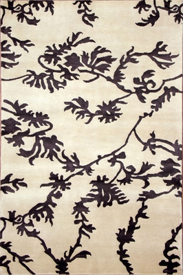 Eastern Weavers Soho Ivory Black Tibetan Wool Rug