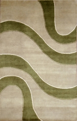 Eastern Weavers Soho Ivory Green Tibetan Wool Rug