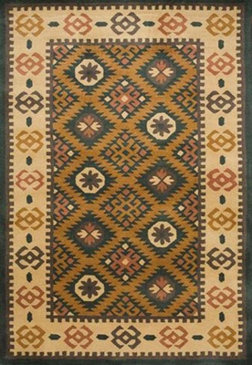 Eastern Weavers Southwest Mineral Green Beige Wool Rug