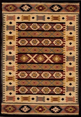 Eastern Weavers Southwest Wool Rug - Black Beige
