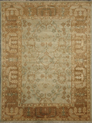 Eastern Weavers Turkish Treasures Blue Brown Persian Wool Rug