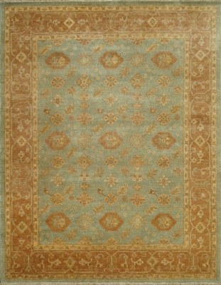 Eastern Weavers Turkish Treasures Light Blue Rust Persian Rug