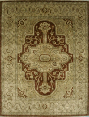 Eastern Weavers Turkish Treasures Rectangular Rust Beige Persian Rug